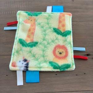 Safari Baby Tag Blanket Sensory Baby Blanket
